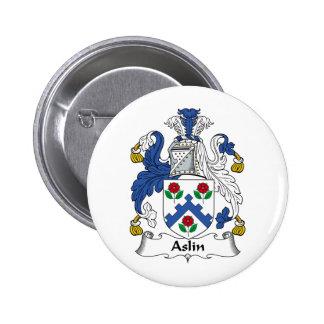 Escudo de la familia de Aslin Pins
