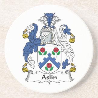 Escudo de la familia de Aslin Posavasos Manualidades
