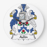 Escudo de la familia de Aslin Relojes