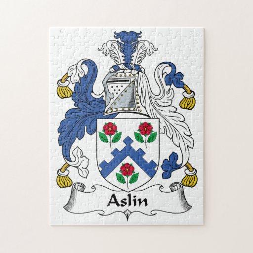 Escudo de la familia de Aslin Rompecabezas