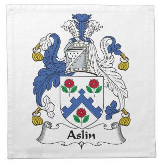 Escudo de la familia de Aslin Servilleta De Papel
