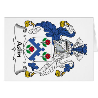 Escudo de la familia de Aslin Tarjetas