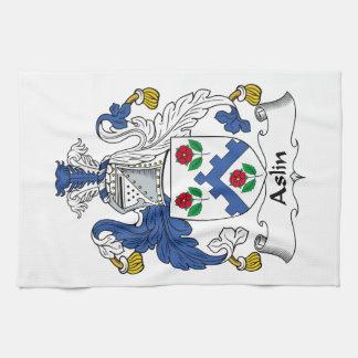Escudo de la familia de Aslin Toallas De Cocina