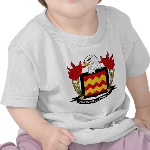 Escudo de la familia de Aspinwall Camisetas