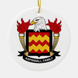Escudo de la familia de Aspinwall Ornamento De Reyes Magos