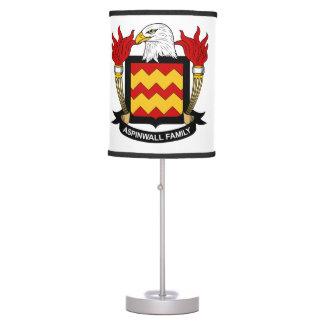 Escudo de la familia de Aspinwall Lámpara De Mesilla De Noche