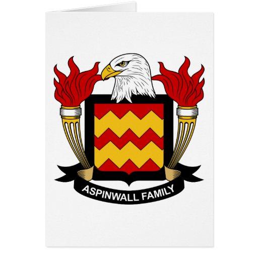 Escudo de la familia de Aspinwall Tarjetas