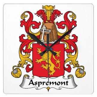 Escudo de la familia de Aspremont Reloj De Pared