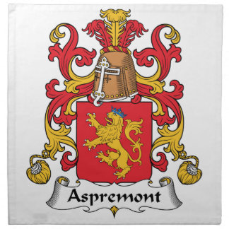 Escudo de la familia de Aspremont Servilleta Imprimida