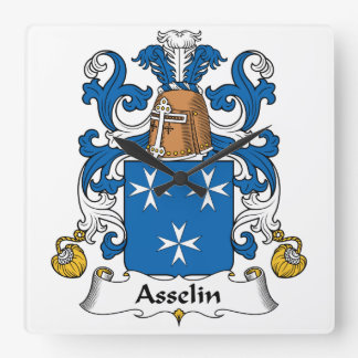 Escudo de la familia de Asselin Relojes