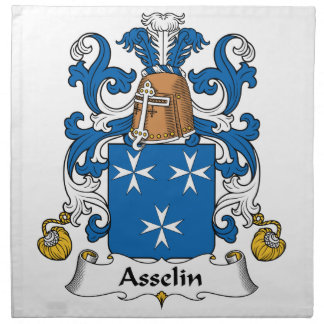 Escudo de la familia de Asselin Servilletas Imprimidas