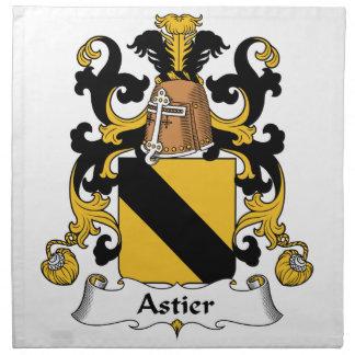Escudo de la familia de Astier Servilletas