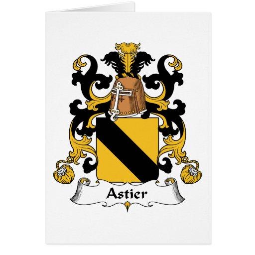 Escudo de la familia de Astier Tarjeta De Felicitación