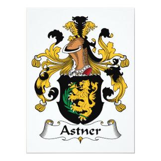 """Escudo de la familia de Astner Invitación 6.5"""" X 8.75"""""""