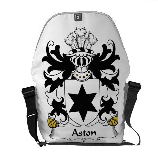 Escudo de la familia de Aston Bolsas Messenger