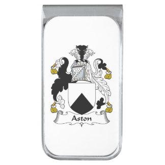 Escudo de la familia de Aston Clip Para Billetes Plateado