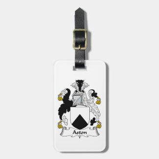 Escudo de la familia de Aston Etiquetas Maletas