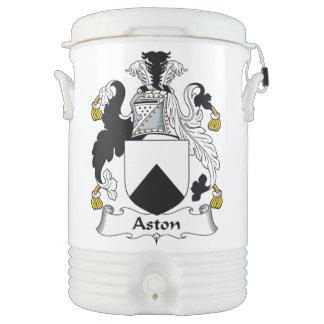 Escudo de la familia de Aston Enfriador De Bebida Igloo
