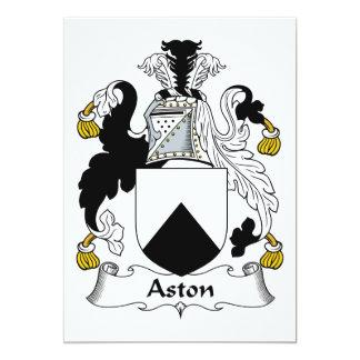 Escudo de la familia de Aston Invitacion Personal