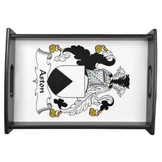 Escudo de la familia de Aston Bandeja