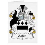 Escudo de la familia de Aston Tarjeta