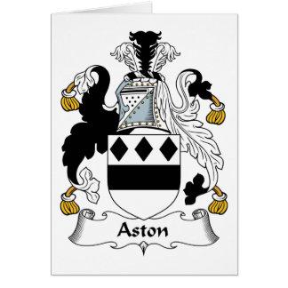 Escudo de la familia de Aston Tarjeta De Felicitación