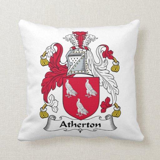 Escudo de la familia de Atherton Cojines