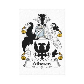 Escudo de la familia de Atheson Impresión En Lona