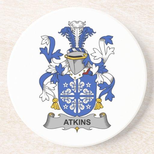 Escudo de la familia de Atkins Posavasos De Arenisca