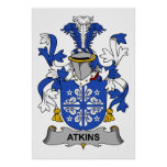 Escudo de la familia de Atkins Poster