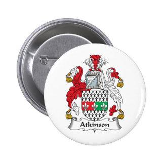 Escudo de la familia de Atkinson Pin Redondo 5 Cm