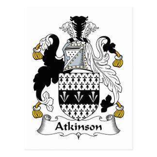 Escudo de la familia de Atkinson Postales