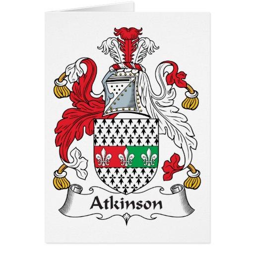 Escudo de la familia de Atkinson Tarjeta De Felicitación
