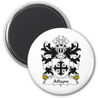 Escudo de la familia de Atkyns Imán Redondo 5 Cm