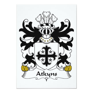 """Escudo de la familia de Atkyns Invitación 5"""" X 7"""""""
