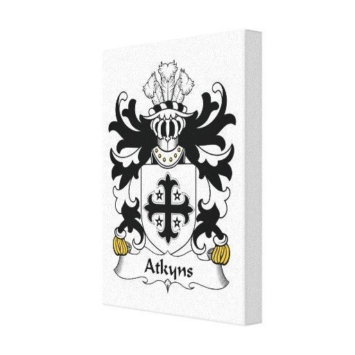 Escudo de la familia de Atkyns Impresiones En Lienzo Estiradas