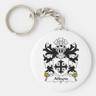 Escudo de la familia de Atkyns Llavero Redondo Tipo Pin