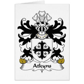 Escudo de la familia de Atkyns Tarjeta De Felicitación