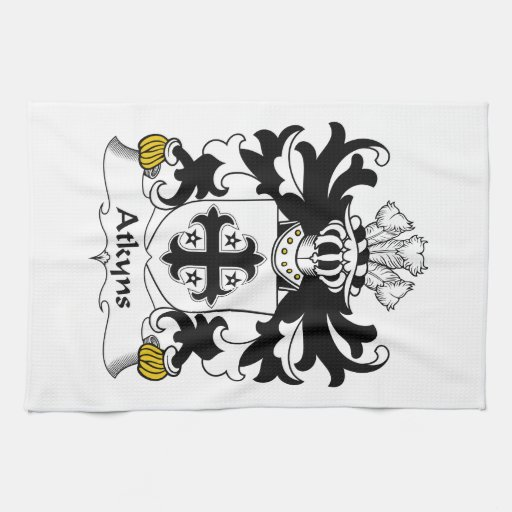 Escudo de la familia de Atkyns Toallas De Cocina