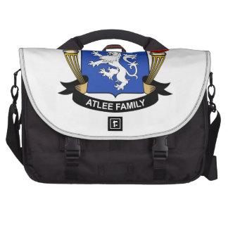 Escudo de la familia de Atlee Bolsas Para Ordenador