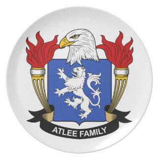 Escudo de la familia de Atlee Plato De Cena