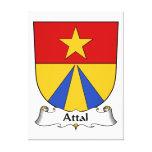 Escudo de la familia de Attal Lienzo Envuelto Para Galerías