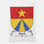 Escudo de la familia de Attal Toallas De Cocina