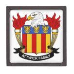 Escudo de la familia de Attwick Cajas De Joyas De Calidad