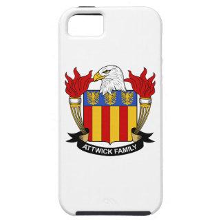 Escudo de la familia de Attwick iPhone 5 Case-Mate Protectores