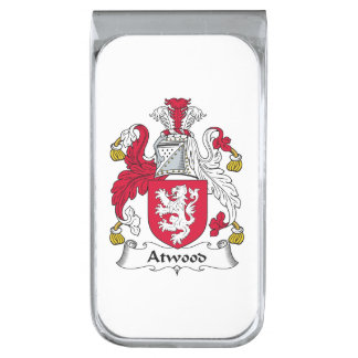 Escudo de la familia de Atwood Clip Para Billetes Plateado