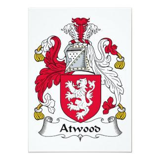 """Escudo de la familia de Atwood Invitación 5"""" X 7"""""""
