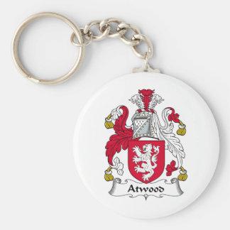 Escudo de la familia de Atwood Llavero Redondo Tipo Pin