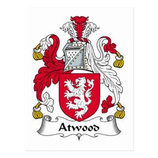Escudo de la familia de Atwood Tarjetas Postales