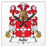 Escudo de la familia de Aube Reloj